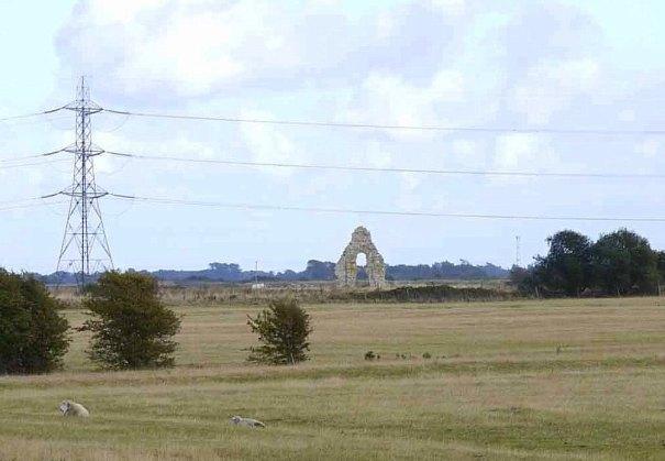 Midley church ruin crop